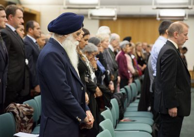 Those gathered in the House of Parliament's Attlee Suite paid their respects to over 1 million soldiers from Undivided. India who fought for the British Empire in World War One. Photo Credit: George Rosen Darrell